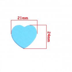 5 ou 10 Perles en Bois Coeur Smile 24mm x 21mm MC0700031