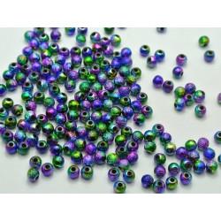 50 Perles Stardust Acrylique 6mm Arc en Ciel MC0106020
