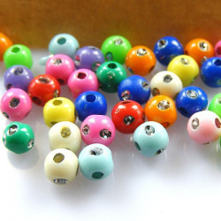50 Perles 6mm Mix Simple Point Argenté MC0106021