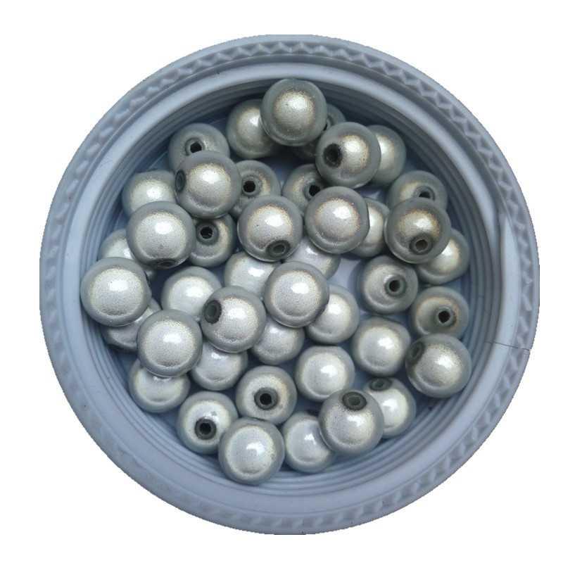 20 Perles 6mm Blanc Miracle Magique Effet Oeil De Poisson