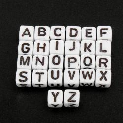 Perle Alphabet 6mm Lettre Mixte