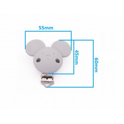 Silicone Clip Pince Attache Tetine Souris MC2035600