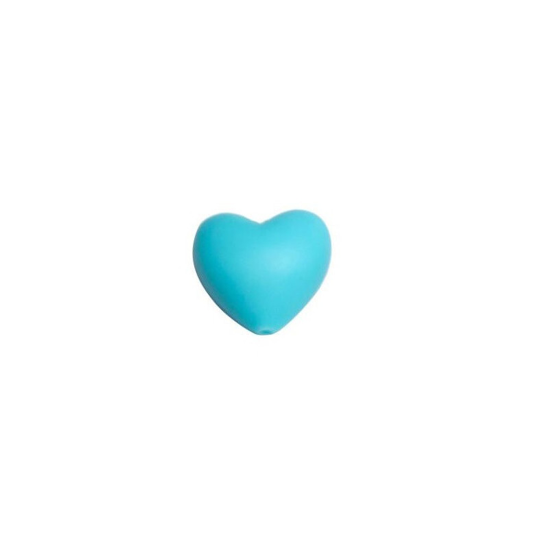 Perle en Silicone Coeur 20mm