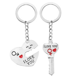 "Porte Cle Couple Coeur "" I love You "" 2 Porte Clef"