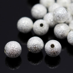 Lot 20 Perles Stardust 8mm Argenté MC0108248
