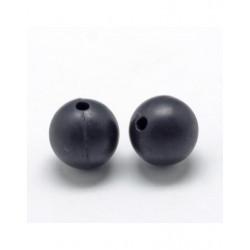 10 Perle 9,5mm Silicone Couleur Noir MC0110303