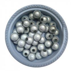 20 Perles 8mm Blanc Miracle Magique Effet Oeil De Poisson MC0108250
