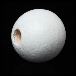 20 Perles en Bois 10mm Blanc MC0110320