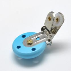 Clip Pince Attache Tetine en Bois Turquoise 3cm MC2030518