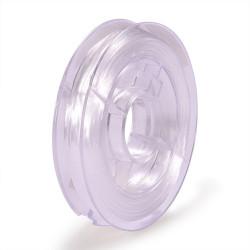 Bobine de Fil Nylon Elastique 0,8mm Blanc environ 10m MC0208330