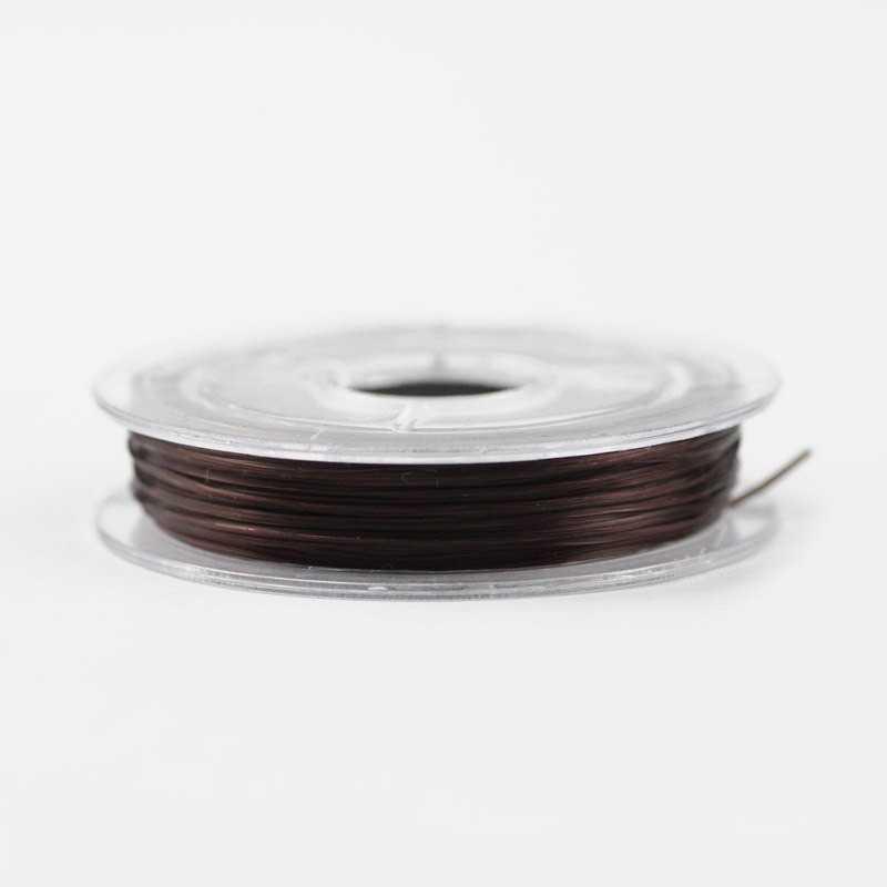 Bobine de Fil Nylon Elastique 0,8mm Marron environ 10m