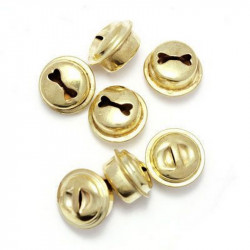 10 Cloche 10mm x 8mm Grelots Metal Doré Clochette Jingle Bell MC0800506