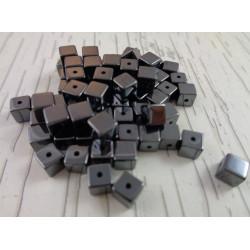 20 Perle Noir Cube 4mm Hematite Non-Magnetique MC0104053