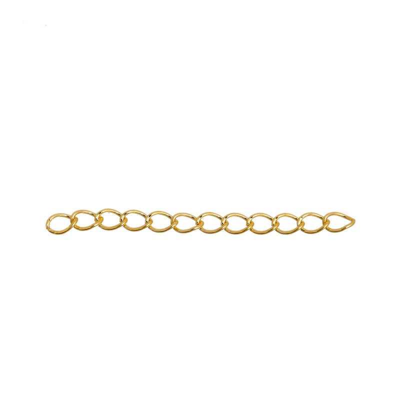 5 Extension Chaine 5cm x 4mm Couleur Doré