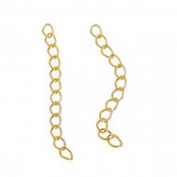 5 Extension Chaine 5cm x 4mm Couleur Doré MC4000101