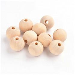 5 - 10 - 20 Perle en Bois 12mm Naturel MC0112050