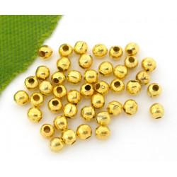 100 Perles en metal Doré 2mm Brillant MC0102042