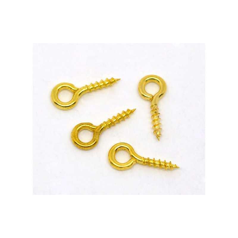 Lot de Tige à Vis 8mm Perles Attache Pendentif Fimo