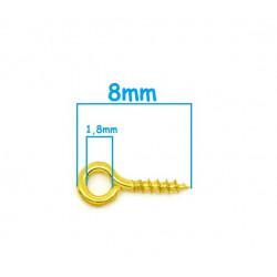 Lot de Tige à Vis 8mm Perles Attache Pendentif Fimo MC0800101