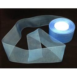 Ruban ORGANZA 3mètre Bleu 50mm ( 5 cm)