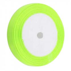 Ruban Satin Vert Fluo 6mm - 1 Rouleau