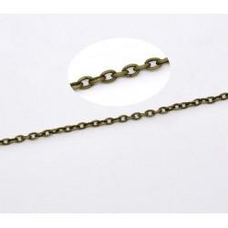 1m Chaine Maille Forçat Chainette Bronze 3mm x 2mm Petit Maillon MC4000004