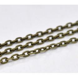1m Chaine Maille Cheval Chainette Bronze 4,5mm x 3mm Petit Maillon MC4000003