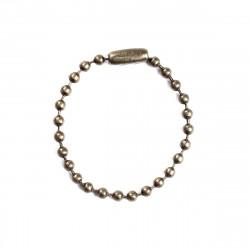 5 Chainette a bille avec fermoir Bronze 2,4mm 10cm Chaine maille a boule MC4000121