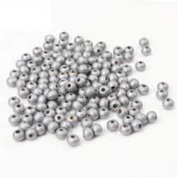 20 Perles en Bois 8mm Couleur Argenté MC0108256