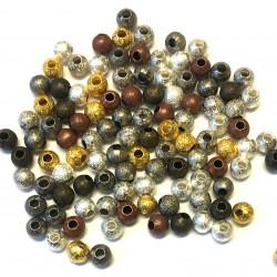 50 Perles Stardust 4mm Metal Mixte MC0104055
