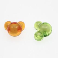 20 Perles en Acrilique Mixte Souris 12mm x 11mm x 8mm MC0400015