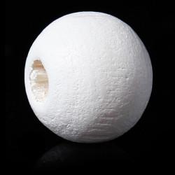 20 Perles en Bois 8mm Blanc MC0108257