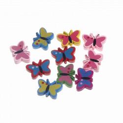 5 Perles en Bois Papillon 23mm x 16mm MC0700039