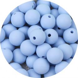 10 Perle Silicone 9mm Couleur Bleu Clair MC1200130