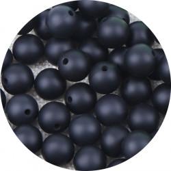 10 Perle Silicone 9mm Couleur Noir MC1200130