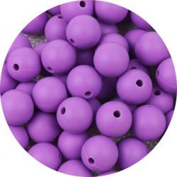 10 Perle Silicone 9mm Couleur Violet MC1200130