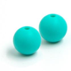 10 Perle Silicone 9mm Couleur Vert MC1200130