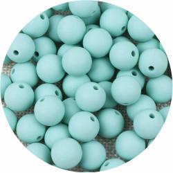 10 Perle Silicone 9mm Couleur Vert Tilleul MC1200130