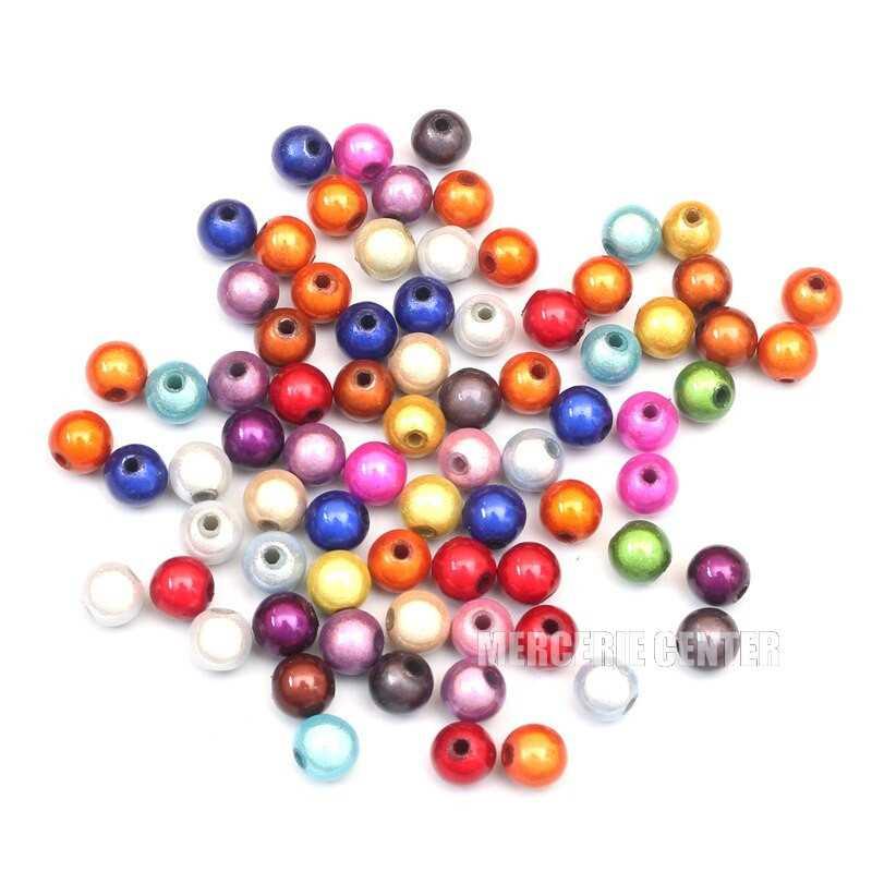 30 Perles 5mm Mixte Miracle Magique Effet Oeil de Poisson