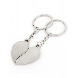 "Porte Cle Couple 2 Demi-Cœur Aimante ""True Love"" 2 Porte Cléf MC3000006"