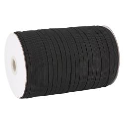 Fil Elastique Plat Noir 7mm (vendu au metre) MC0210350E
