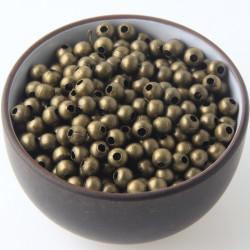 50 Perles Metal 4mm Rond Couleur Bronze MC0104062