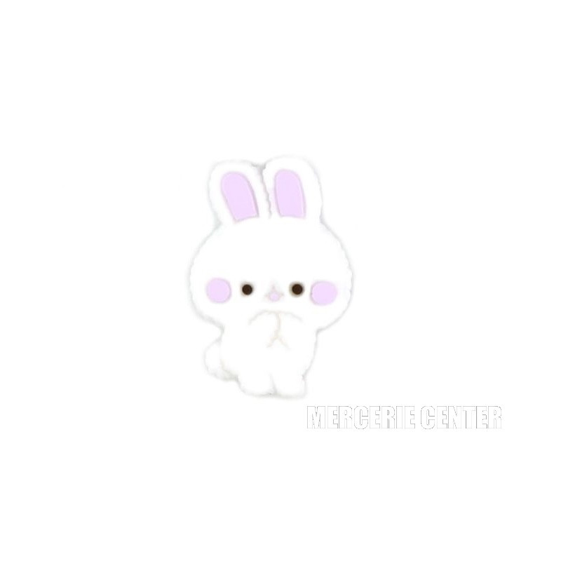 Perle Silicone Petit Lapin 27mm x 18mm