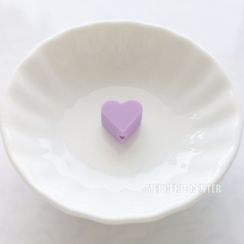 Perle Silicone Petit Coeur 14mm x 13mm