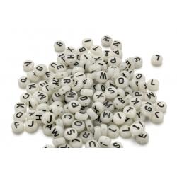 Perle Alphabet Fluorescent 7mm x 4mm Acrylique Lettre Aleatoire MC0107149