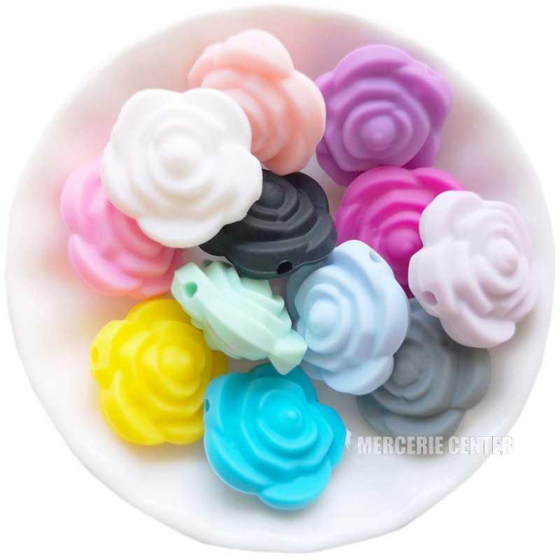 Perle Silicone Fleur 20mm x 20mm