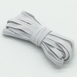 Fil Elastique Plat 7mm Couleur au Choix (vendu au metre) MC0207001