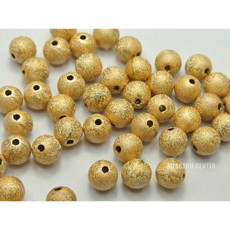 10 Perles en Acrylique 10mm Stardust Doré