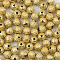 10 Perles en Acrylique 10mm Stardust Doré MC0110370