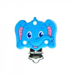 Silicone Clip Pince Attache Tetine Elephant 45mm x 50mm MC2035720